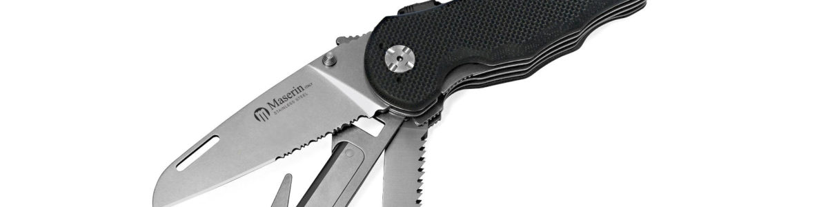 Maserin Black G10 ASEK MK3 Rescue Tool Knife