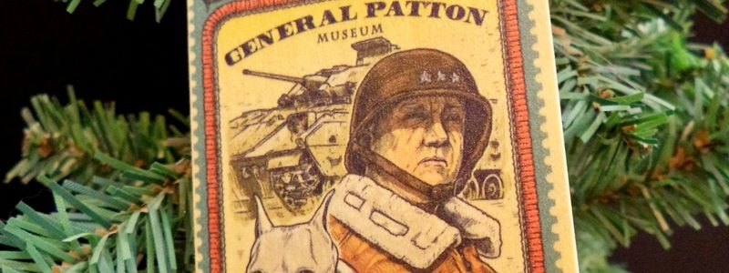 General Patton & Willie Stamp – Museum Wood Ornament
