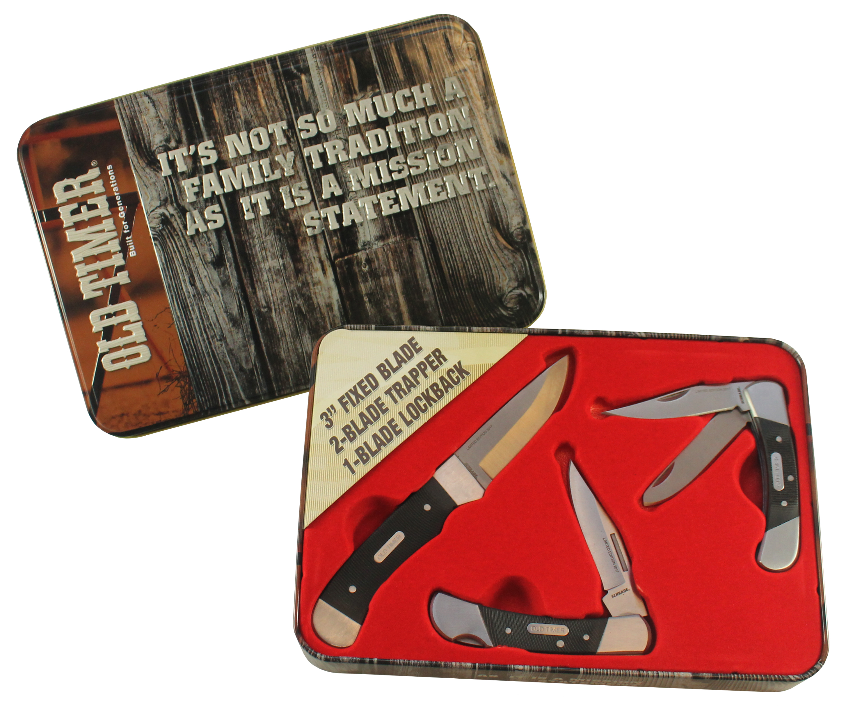 Schrade Old Timer 3 Knife Gift Set 1 Hunter 2 Folders