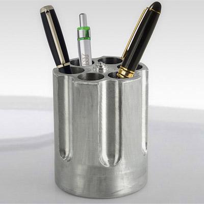 Gun Revolver Cylinder Pen Holder