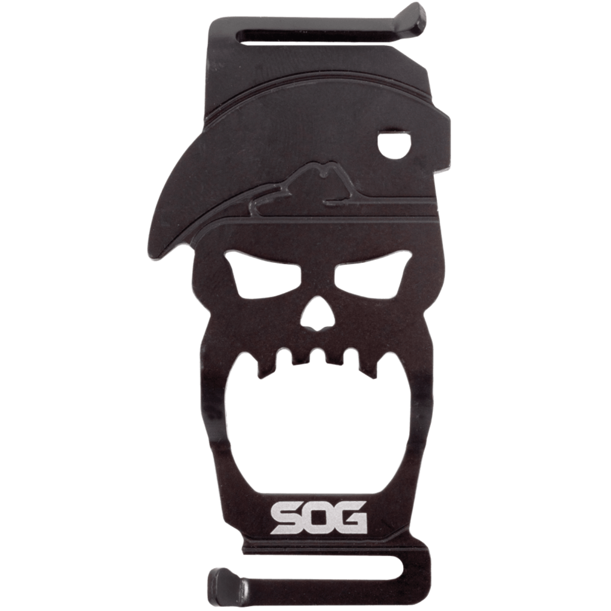 S.O.G. Black Steel Skull BITE Bottle Opener
