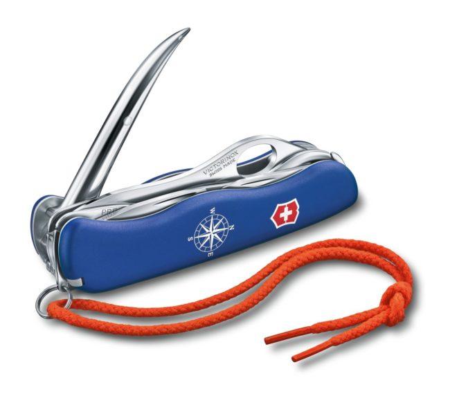 Victorinox Swiss Army Blue Skipper Pro Knife Red Hill