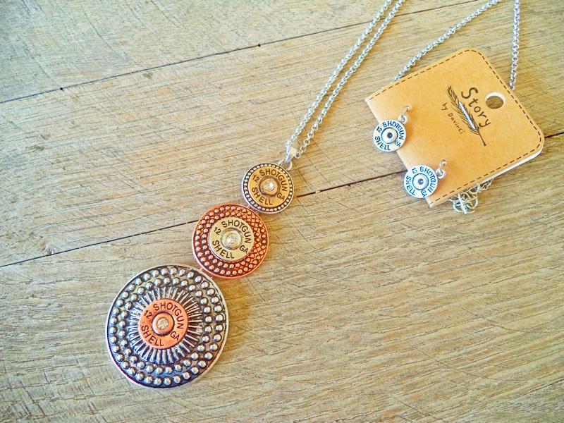 Shot Shell Long Fashion Jewelry Necklace Earring Set
