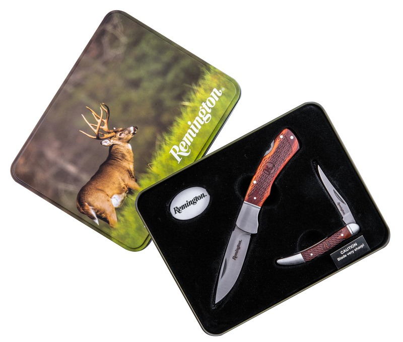 Remington Gift Tin Set Toothpick & Lockback Knife