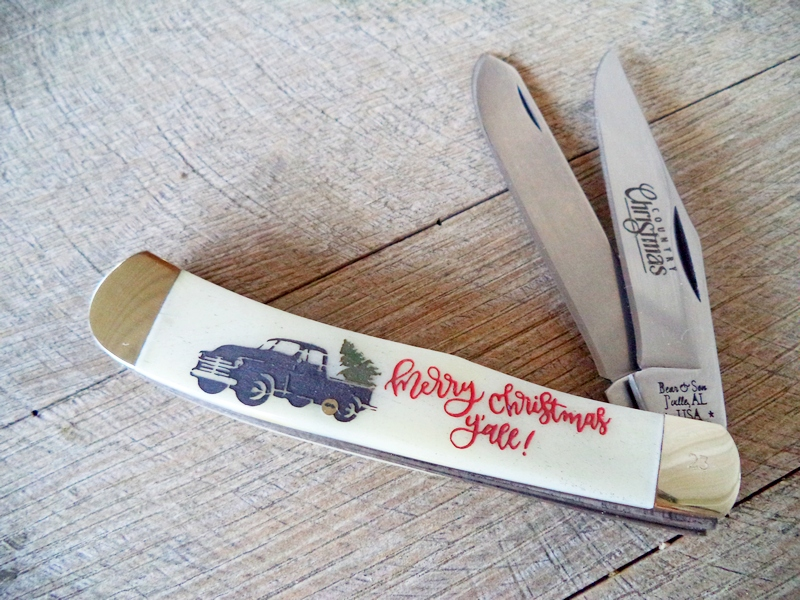 Bear Country Christmas Truck & Tree Trapper Knife