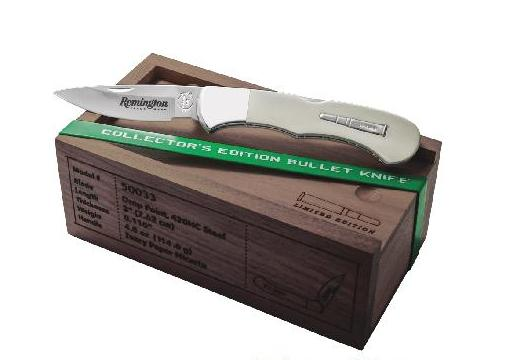 Remington 2019 Bullet Knife Ivory Paper Micarta Lockback