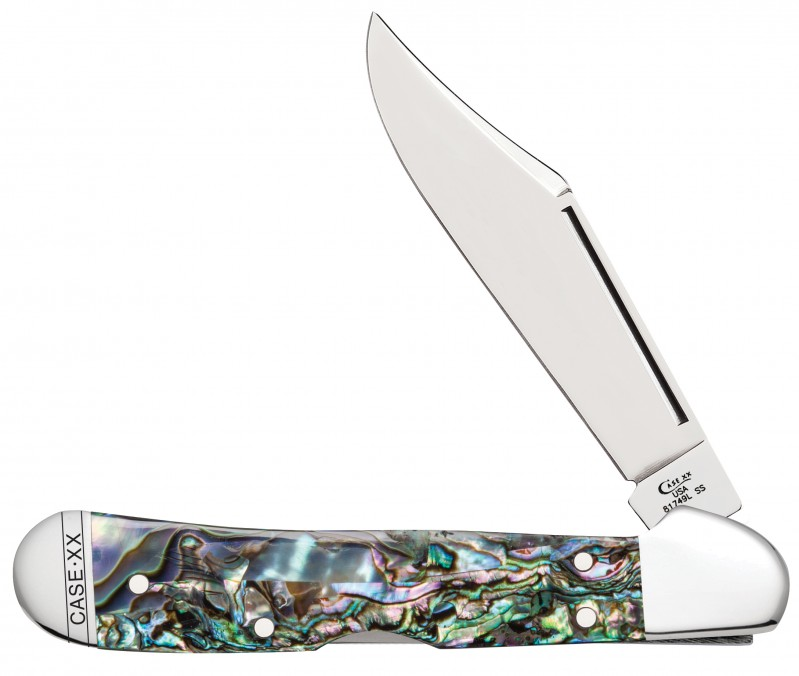Case Abalone Mini Copperlock Knife