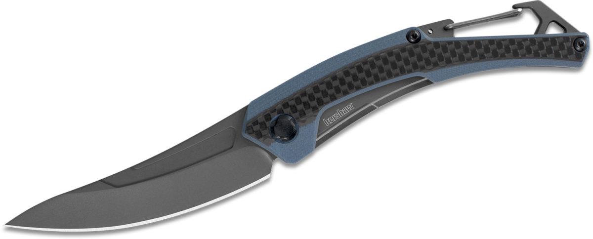Kershaw Blue Grey G10 Carbon Fiber Reverb XL Knife