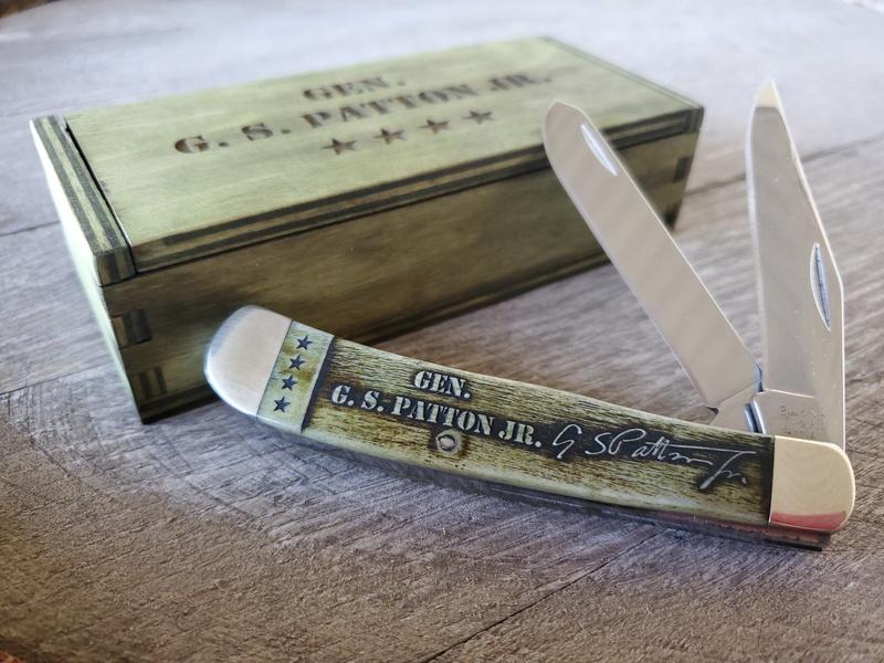 Bear General Patton OD Green Bone Trapper Knife