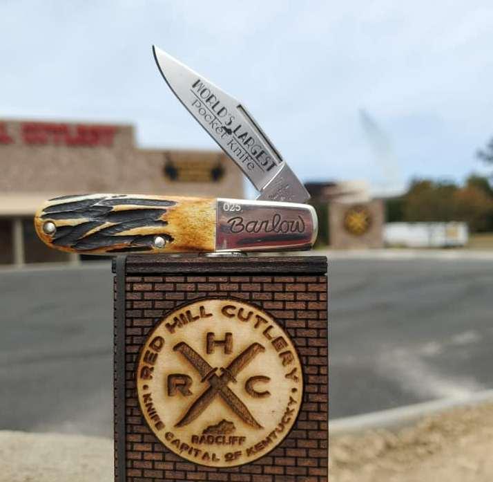 "Bear ""World's Largest Pocketknife"" StagBone Barlow Knife"