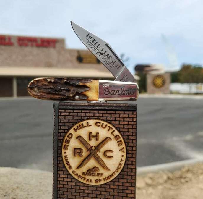"Bear ""World's Largest Pocketknife"" Stag Barlow Knife"