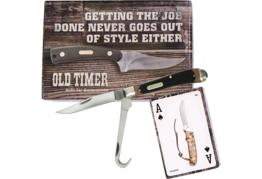 Schrade Old Timer Hoof Pick Trapper with Cards