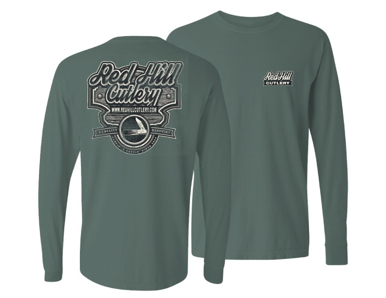 Red Hill Spruce Green Wood Sign Long Sleeve Shirt