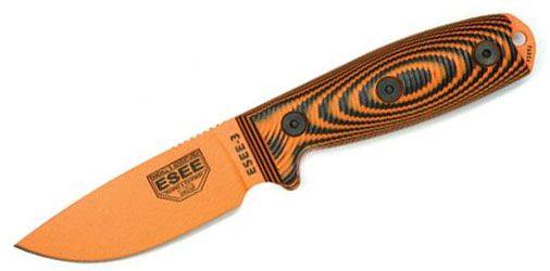 ESEE 3 Orange/Black G10 Orange Fixed Blade