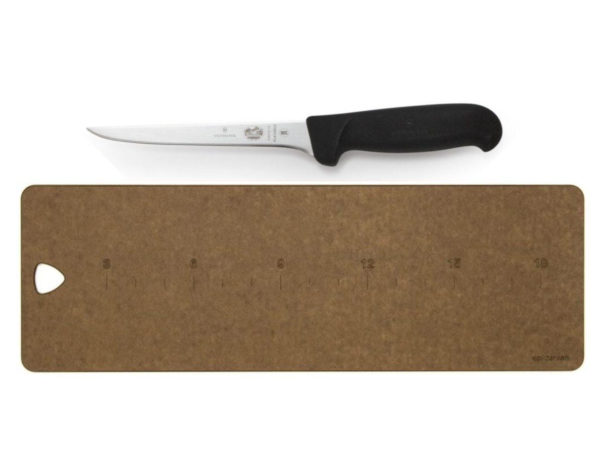 Victorinox Black Fibrox 6″ Boning Knife & Fillet Board
