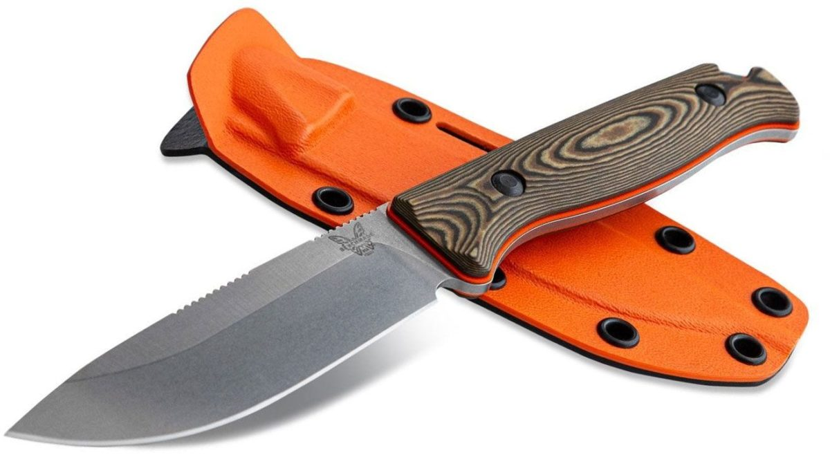 Benchmade HUNT Richlite/Orange G10 Saddle Mountain Skinner