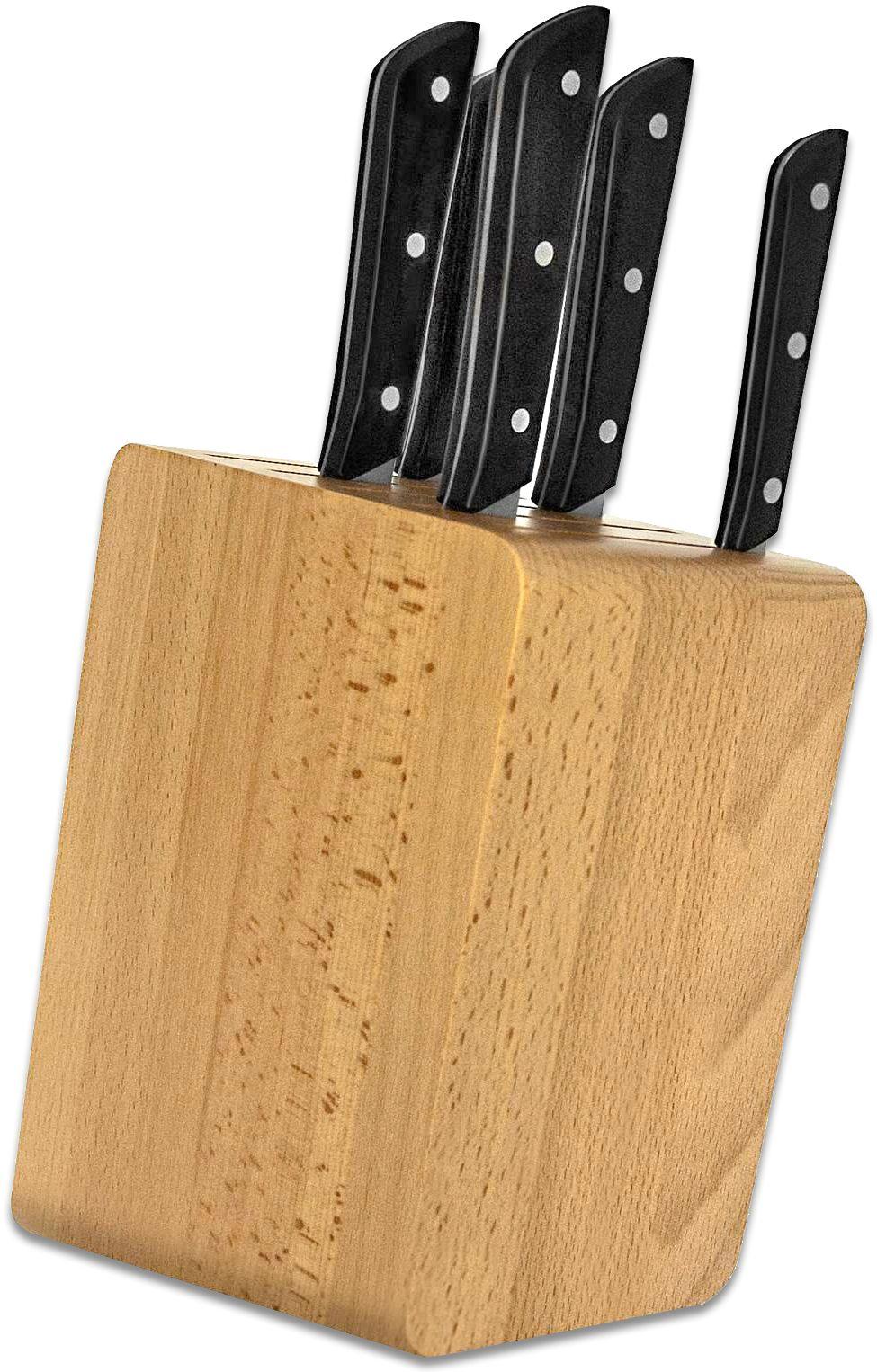 Maserin Black POM Mediterraneo 6 Piece Kitchen Block Set